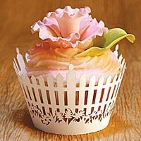 Picket Fence Cupcake Wrappers   Exquisitely detailed!  Kitchen Krafts
