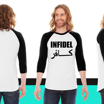 Infidel American Apparel Unisex 3/4 Sleeve T-Shirt