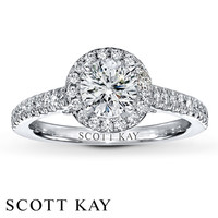Scott Kay Ring Setting 1/4 ct tw Diamonds 14K White Gold