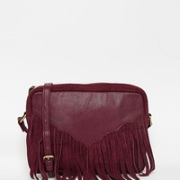 ASOS Western Tassel Suede And Leather Cross Body Bag at asos.com