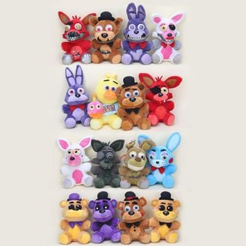 25cm  At   Golden Freddy foxy Bonnie Chica Sister Location stuffed doll cupcake Freddy Fazbear plush toys