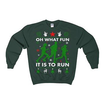 ugly christmas runner sweatshirt