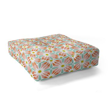 Heather Dutton Crazy Daisy Sorbet Floor Pillow Square