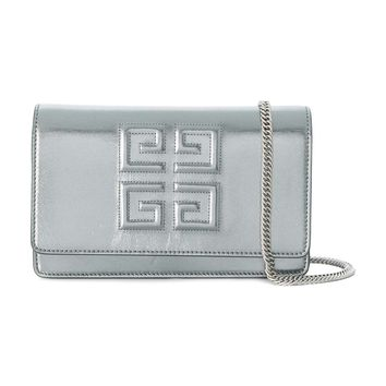 Givenchy 4G Shoulder Bag - Silver Calf Leather Bag