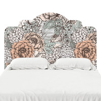 Muted Floral Headboard Decal