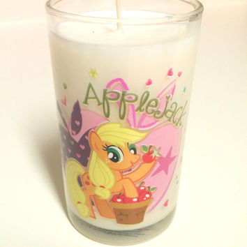 MLP Applejack Candle - 8 oz Soy Candle - CHOICE of SCENT