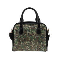 Forest Camouflage Pattern Shoulder Handbag (Model 1634) | ID: D379188
