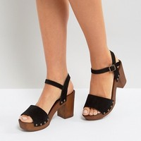 New Look Suede 2 Part Block Heeled Sandal at asos.com