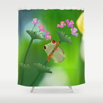 Just Hanging Around Shower Curtain by UMe Images