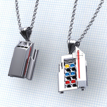 Where did Galileo take you... Star Trek Jewelry Multi Gem Pendant Star Trek Galileo Pendant,