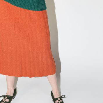 Ribbed Sweater Skirt / M L