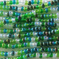 Czech Glass Seed Beads 'Spring Leaves' Mini Hank Preciosa Seed Bead Lot Czech Beads Size 8/0 Bead Supplies Bead Weaving Bead Embroidery