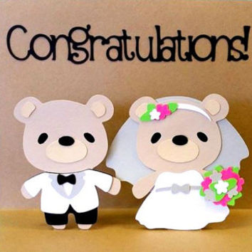 Pop Up Card - Wedding Card - Mr and Mrs Card - Congratulations Card