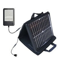 Amazon Kindle (1st Generation) compatible SunVolt Portable High Power Solar Charger by Gomadic - Outlet- speed charge for multiple gadgets