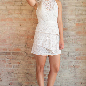 Allegra Lace Dress - Ivory
