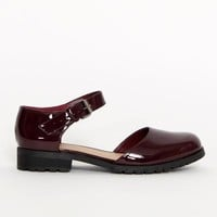 Ark Ark Burgundy Nat Patent Mary Jane Shoes