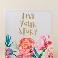 Live Your Story Wall Decor