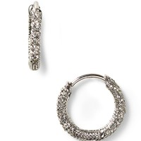 Nadri Small Pavé Huggie Hoop Earrings | Bloomingdale's