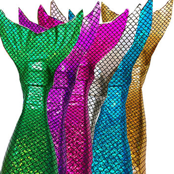 Swimmable Mermaid Tail tails (with monofin)  +Bikini Top Girls Kids  Shinning SCALE swimware