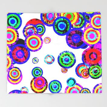 Moving Targets Throw Blanket by Miss L In Art