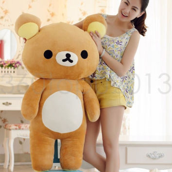 "Kawaii San-x Rilakkuma Bear Gaint bear Cute Soft 31""(80cm) Pillow Plush Doll Toy"