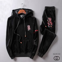 Gucci Top Sweater Pullover Hoodie Pants Trousers Set Two-Piece