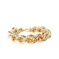 Pearl Chain Bracelet by Charlotte Russe - Gold