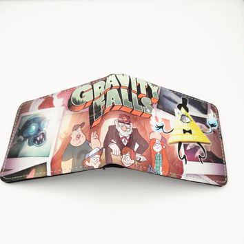 Gravity Falls Wallet Cartoon Characters Bill Cipher Dipper Pines Mabel Pines and The Simpsons Wallets W294