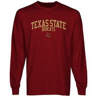Texas State Bobcats Team Arch Long Sleeve T-Shirt - Garnet
