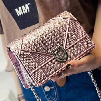 Fashion  Exclusive  Shoulder Bag Trendy Shield Lock Crossbody Bags Women Messenger Bags