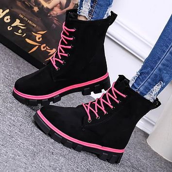Winter Lace Up Boots for Women