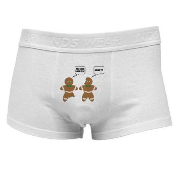 DCKL9 Funny Gingerbread Conversation Christmas Mens Cotton Trunk Underwear