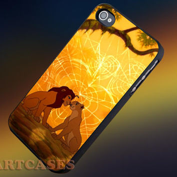Love Simba and Nala the Lion King iphone 4/4s case, iphone 5/5s,iphone 5c, samsung s3 i9300 case, samsung s4 i9500 case in SmartCasesStore.