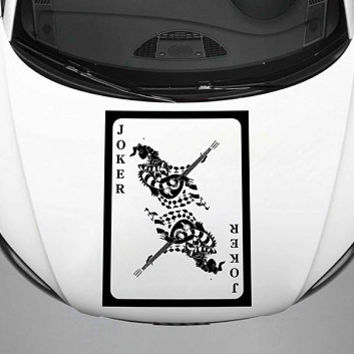 joker car hood decal joker Auto side sticker joker Vinyl Design Racing Truck Van kikcar97