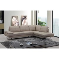 VIG Divani Casa Knight Modern Leather Sectional Sofa In Beige