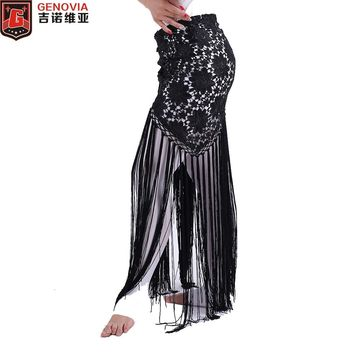 Women Sexy Belly Dance Costume Tribal Tassel Hip Scarf Floral Ladies Bellydance Wrap Belt Skirt Fringes 6 Colors