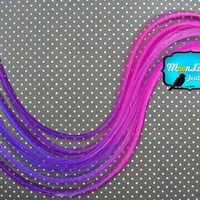 Ombre Feathers, 4 Pieces - SOLID RASPBERRY Thin Long Hair Extension Rooster Feather Blendz : 909