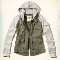 Twofer Twill Jacket