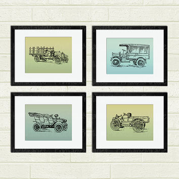 Printable Old Car Art Automobile Retro Wall Decor Christmas Gift for him Modern Wall Art Home Decor 8x10 inch boy or men room decoration
