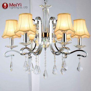 Vintage Modern K9 Luster Crystal Chandelier Luxury Crystal Candle Ceiling Chandelier Fixture Lighting Free Shipping