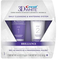 Crest 3D White Brilliance Daily Cleansing Toothpaste and Whitening Gel System, 2 pc - Walmart.com