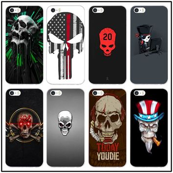 For iphone 6 Case Fashion Cool Skull Transparent Soft Silicon TPU Phone Case for iphone 7 6 6S 8 Plus 5 5S 5C SE X 4 4S Shell