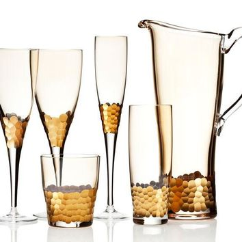 Paillette Gold Stemware by Kim Seybert