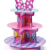 Minnie Mouse Bowtique Birthday Cupcake Stand, Party Supplies