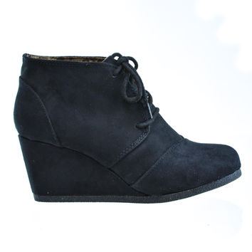 Rex Black By City Classified, Lace up Oxford Ankle Bootie