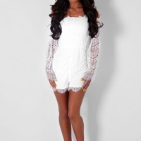 Haydock White Lace Playsuit | Pink Boutique