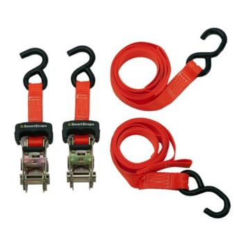 SmartStraps® 10 ft. L Heavy-Duty Orange Padded Ratchet, Pack of 2, 1,000 lb. Safe Work Load