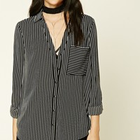 Striped Crepe Woven Shirt