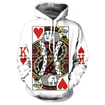 Newest Fashion Womens/Mens king of hearts tattoo Funny 3D Print Casual Hoodies Pullovers Sweatshirts LMS0062