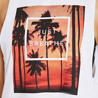 Active Just Breathe Muscle Tee | Forever 21 - 2000171305
